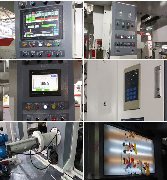 Industrial Multicolor Roto Gravure Printing Machine Automatic Computer High Speed 150 M/Min Two - Ten Color