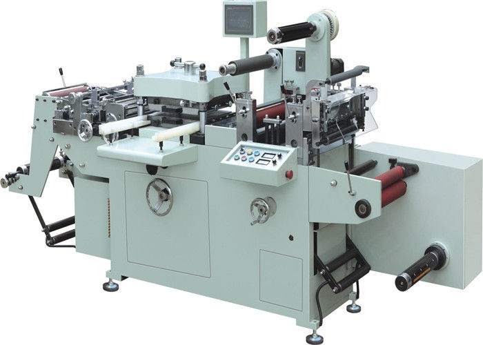 PLC Controlled Label Die Cutting Machine Hot Stamping For Laser Film Adhesive Label