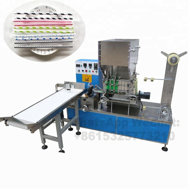 Paper Drinking Straw Packing Machine For Single Package , Long Working Time