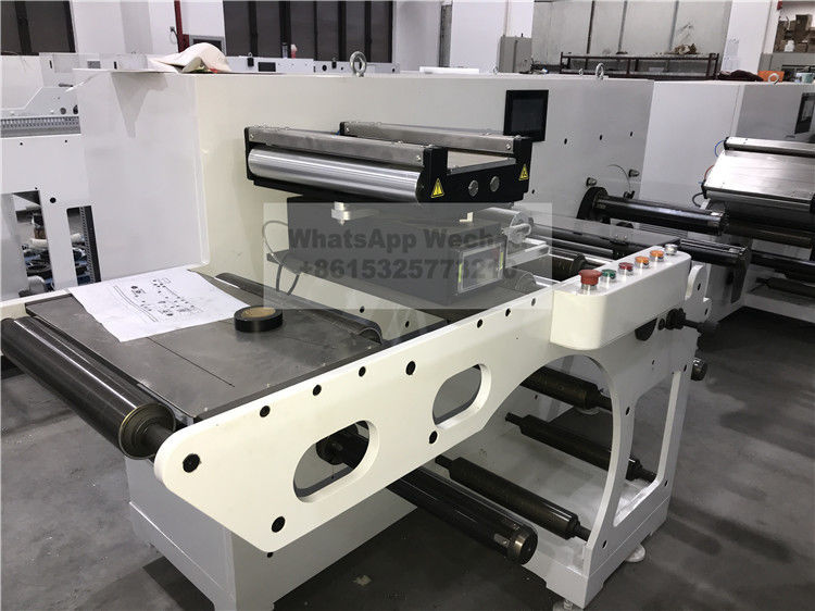 Semi Rotary Die Cutting And Flexo Printing Machine With Slitting Sheeting Turret Rewinder Machine