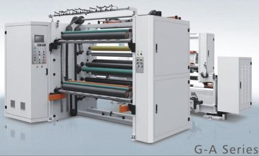 Automatic Tension Control Paper Roll Slitting & Rewinding Machine Unwinding Paper Core Dia 3 / 6″