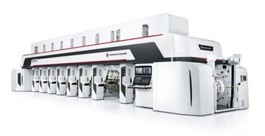 Electronic Line Shaft Automatic Printing Machine 380KW Gravure Coating Machine