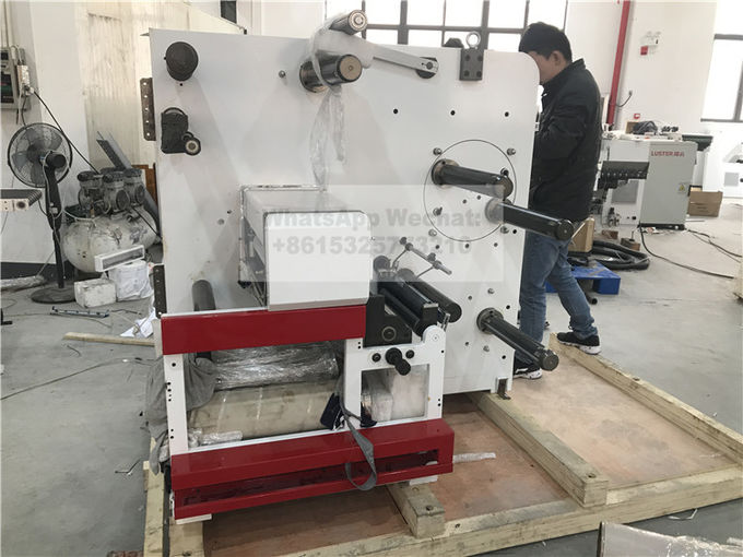 Two Heads Flat Bed Slitting Machine With Manual Rotary Die Cutting For Blank Label